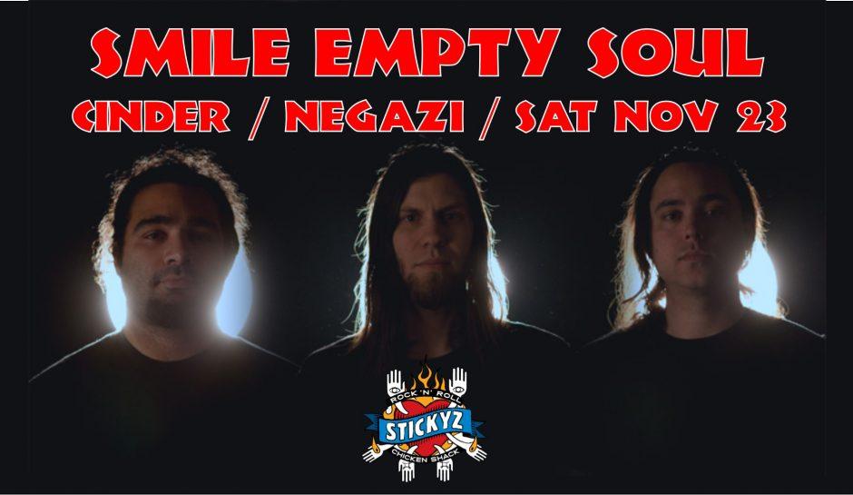 Smile Empty Soul – Sat Nov 23